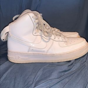 White high top air force 1s
